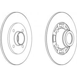 COPPIA DISCHI FRENO POST. RENAULT CLIO I - R5 - R SUPER 5 - R 9 - R 11 - R19 I II / 7700805148 - 7701204303