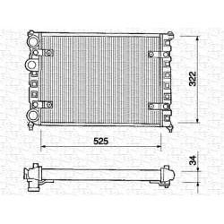 RADIATORE RAFFREDDAMENTO SEAT CORDOBA IBIZA II CADDY POLO - NRF 545651 - VALEO 730947 - VALEO TA825 - 6K0121253