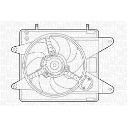 ELETTROVENTOLA FIAT BRAVO/A 1.6 16V - MAGNETI MARELLI MTC006AX - 46430980 - 46472598