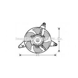 ELETTROVENTOLA FIAT PANDA 141 Y10 - MAGNETI MARELLI MTE906AX - 46542853 - 46542852 - 7556709 - 7602715