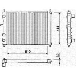 RADIATORE RAFFREDDAMENTO FIAT BRAVO 2.0 HGT 20V MAREA 2.0 20V ORIGINALE MARELLI BM150 - 46736953 - 46400850 - 7767440