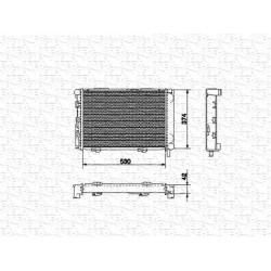 RADIATORE RAFFREDDAMENTO MERCEDES W124 ORIGINALE MAGNETI MARELLI BM529 - 1245000403 - 1245002303 - 1245004903