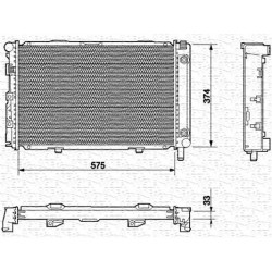 RADIATORE RAFFREDDAMENTO MERCEDES 190 W201 ORIGINALE MAGNETI MARELLI BM538 - 2015004203 - 2015004103