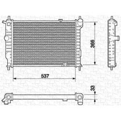 RADIATORE RAFFREDDAMENTO OPEL ASTRA F 1.7 D TD ORIGINALE MAGNETI MARELLI BM584 - 1300108 - 1300134