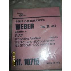 GUARNIZIONI CARBURATORE FIAT 128 special WEBER 32 INCEV